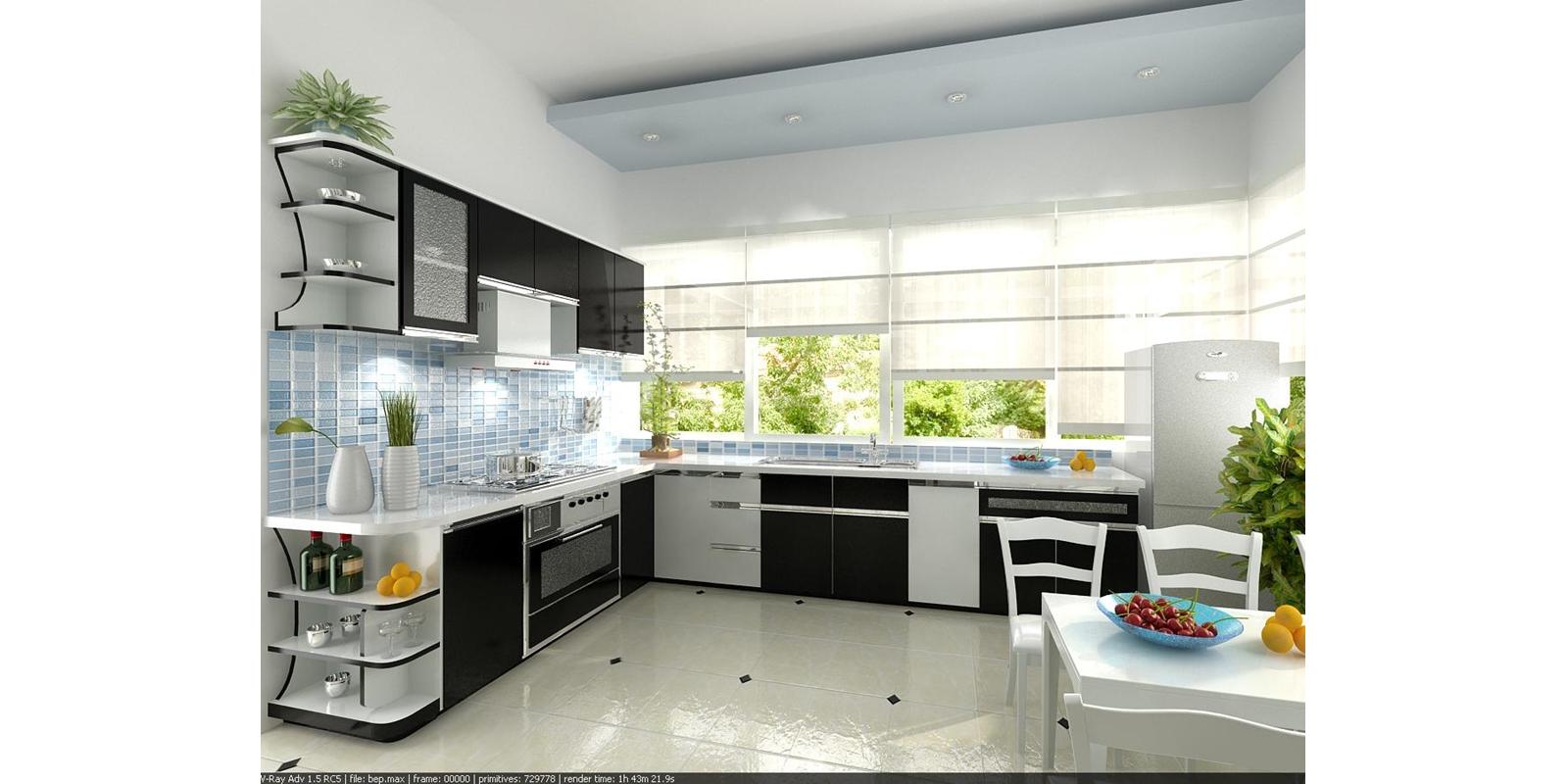 Nội thất cho phòng bếp hẹp