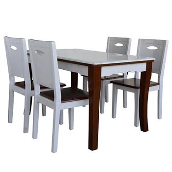 Bộ Bàn ghế Ăn 1 Bàn HGB75B + 4 Ghế HGG75