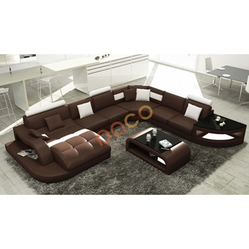 Sofa Da Góc hình chữ U DS-322
