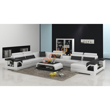Sofa Da Góc hình chữ U DS-324