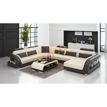 Sofa Da Góc hình chữ U DS-327