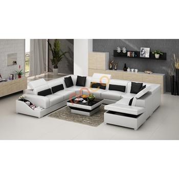 Sofa Da Góc hình chữ U DS-323